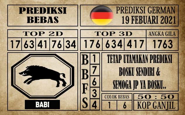 Prediksi Germany Hari Ini 19 Februari 2021