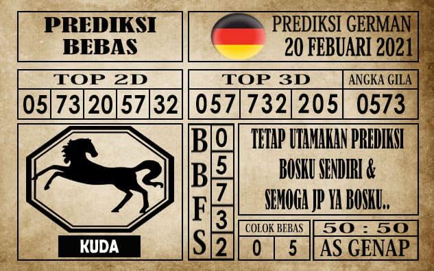 Prediksi Germany Hari Ini 20 Februari 2021