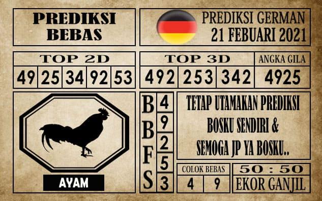 Prediksi Germany Hari Ini 21 Februari 2021
