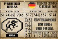 Prediksi Germany Hari Ini 23 Februari 2021