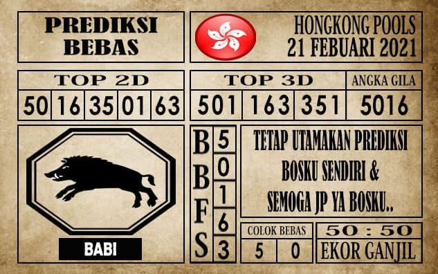 Prediksi Hongkong Pools Hari Ini 21 Februari 2021