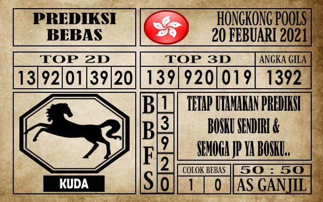 Prediksi Hongkong Pools Hari Ini 20 Februari 2021