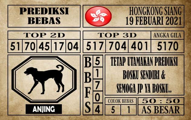 Prediksi Hongkong Siang Hari Ini 19 Februari 2021