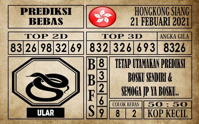Prediksi Hongkong Siang Hari Ini 21 Februari 2021