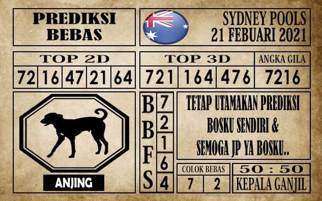 Prediksi Sydney Pools Hari Ini 21 Februari 2021