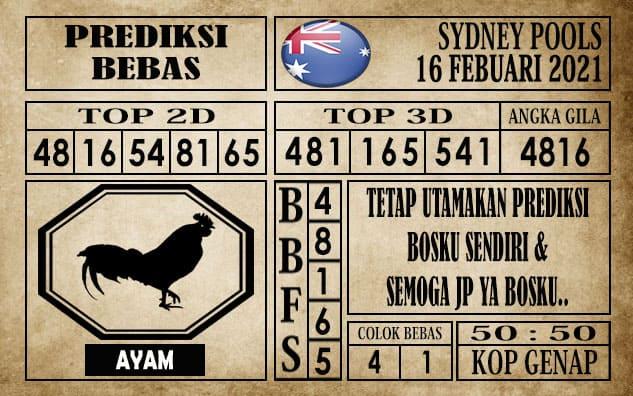 Prediksi Sydney Pools Hari Ini 16 Februari 2021