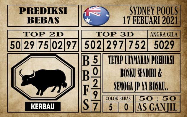 Prediksi Sydney Pools Hari Ini 17 Februari 2021