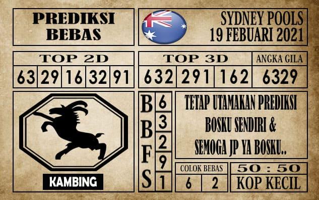 Prediksi Sydney Pools Hari Ini 19 Februari 2021