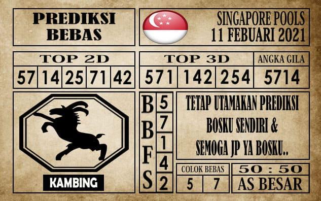 Prediksi Singapore Pools Hari ini 11 Februari 2021