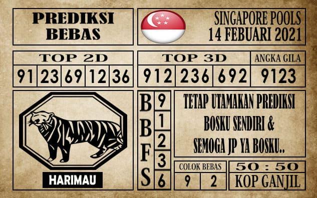 Prediksi Singapore Pools Hari ini 14 Februari 2021