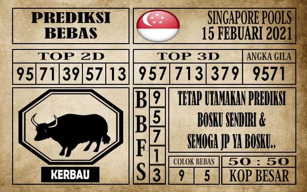 Prediksi Singapore Pools Hari ini 15 Februari 2021