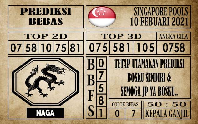 Prediksi Singapore Pools Hari ini 10 Februari 2021