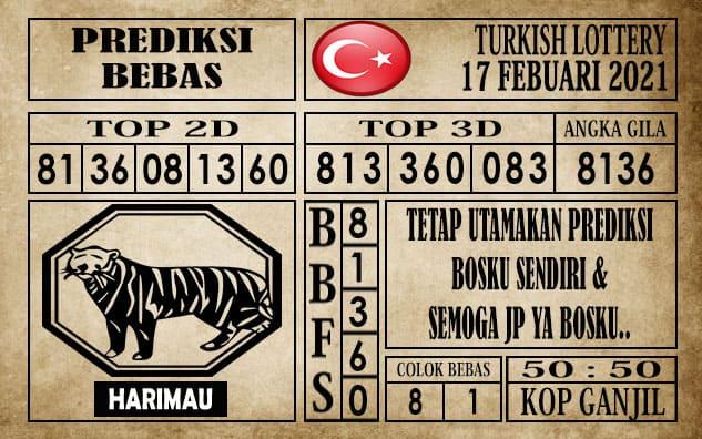 Prediksi Turkish Lottery Hari Ini 17 Februari 2021