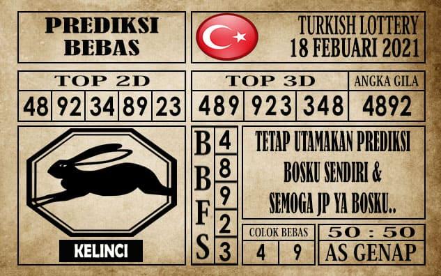 Prediksi Turkish Lottery Hari Ini 18 Februari 2021