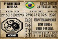 Prediksi Brazil Lottery Hari Ini 24 Februari 2021
