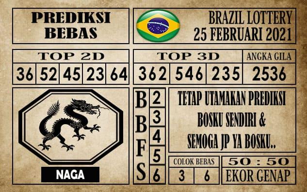 Prediksi Brazil Lottery Hari Ini 25 Februari 2021