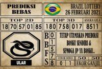 Prediksi Brazil Lottery Hari Ini 26 Februari 2021