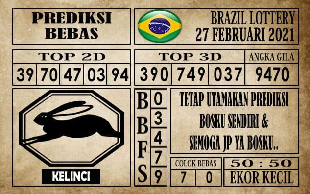 Prediksi Brazil Lottery Hari Ini 27 Februari 2021