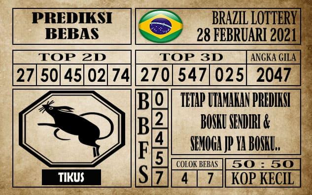 Prediksi Brazil Lottery Hari Ini 28 Februari 2021