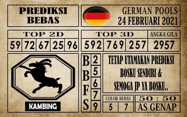 Prediksi Germany Hari Ini 24 Februari 2021