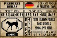 Prediksi Germany Hari Ini 26 Februari 2021