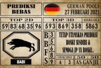 Prediksi Germany Hari Ini 27 Februari 2021