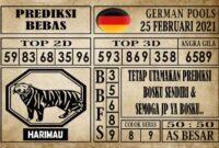 Prediksi Germany Hari Ini 25 Februari 2021