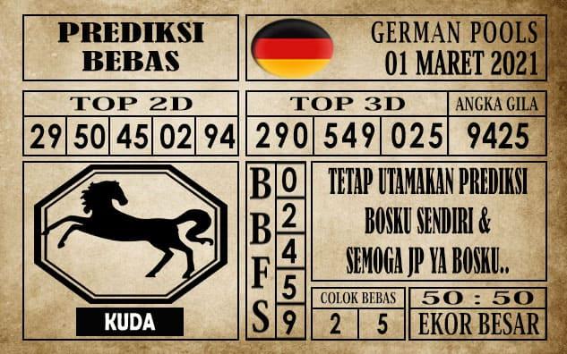 Prediksi Germany Hari Ini 01 Maret 2021