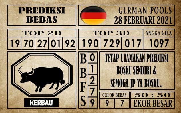 Prediksi Germany Hari Ini 28 Februari 2021