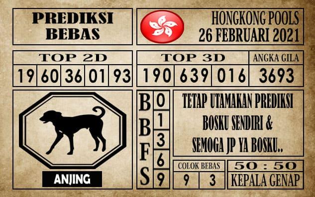 Prediksi Hongkong Pools Hari Ini 26 Februari 2021
