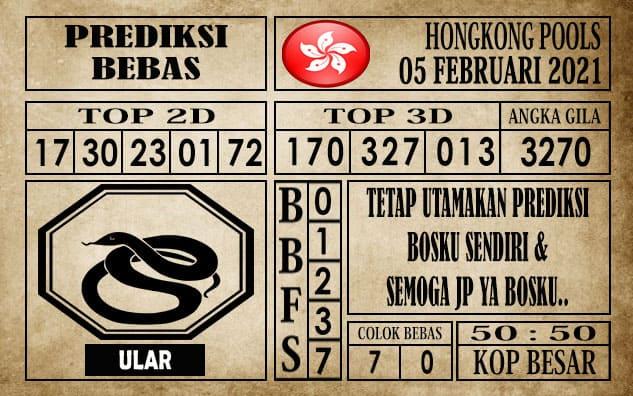 Prediksi Hongkong Pools Hari Ini 05 Februari 2021