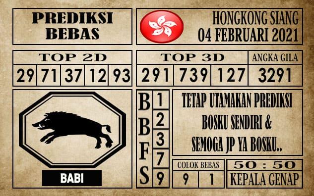 Prediksi Hongkong Siang Hari ini 04 Februari 2021