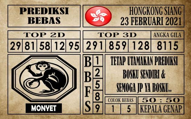 Prediksi Hongkong Siang Hari ini 23 Februari 2021