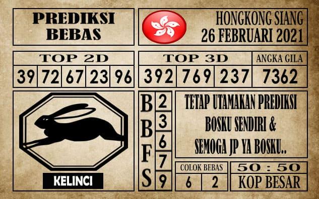 Prediksi Hongkong Siang Hari ini 26 Februari 2021