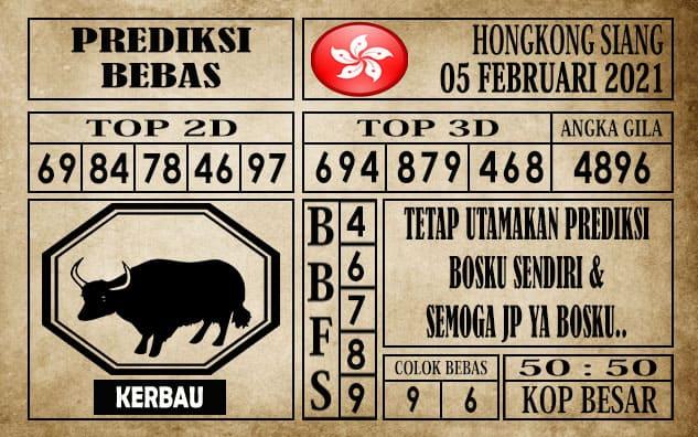 Prediksi Hongkong Siang Hari ini 05 Februari 2021