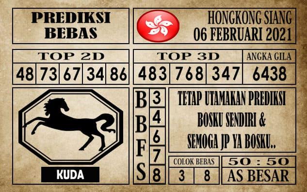 Prediksi Hongkong Siang Hari ini 06 Februari 2021