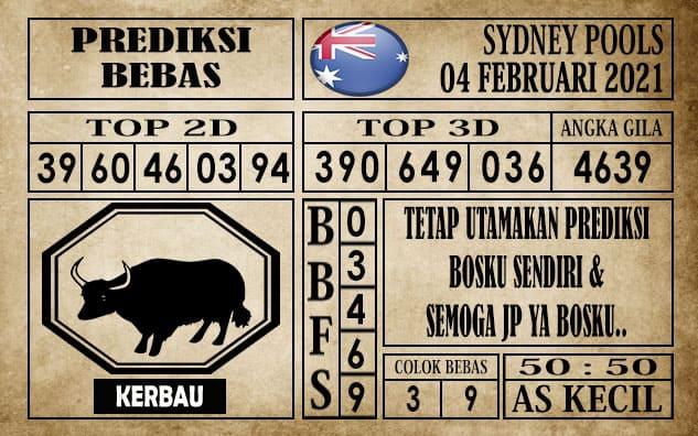Prediksi Sydney Pools Hari ini 04 Februari 2021
