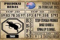 Prediksi Sydney Pools Hari ini 26 Februari 2021