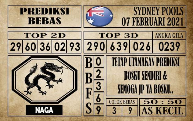 Prediksi Sydney Pools Hari ini 07 Februari 2021