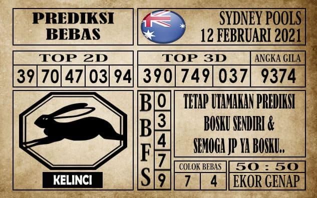 Prediksi Sydney Pools Hari ini 12 Februari 2021