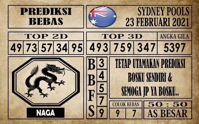 Prediksi Sydney Pools Hari ini 23 Februari 2021