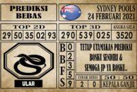Prediksi Sydney Pools Hari ini 24 Februari 2021