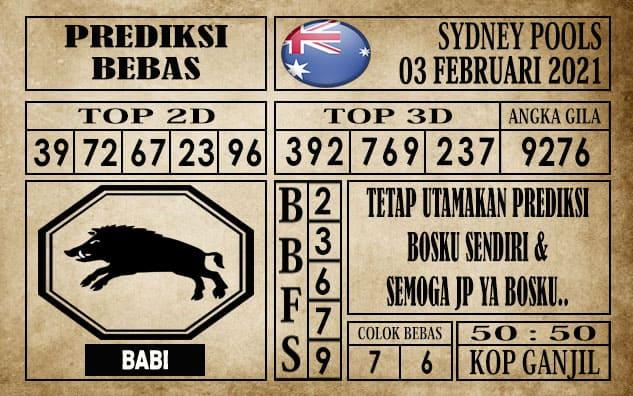 Prediksi Sydney Pools Hari ini 03 Februari 2021