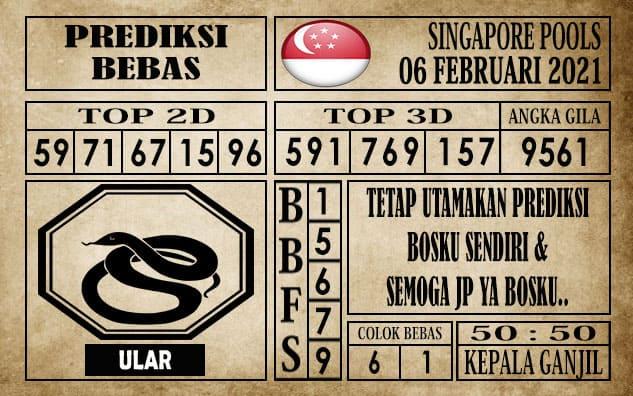 Prediksi Singapore Pools Hari ini 06 Februari 2021