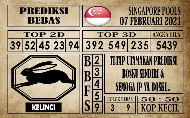 Prediksi Singapore Pools Hari ini 07 Februari 2021