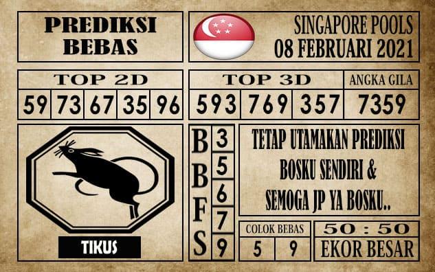 Prediksi Singapore Pools Hari ini 08 Februari 2021