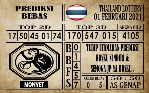 Prediksi Thailand Lottery Hari Ini 01 Februari 2021
