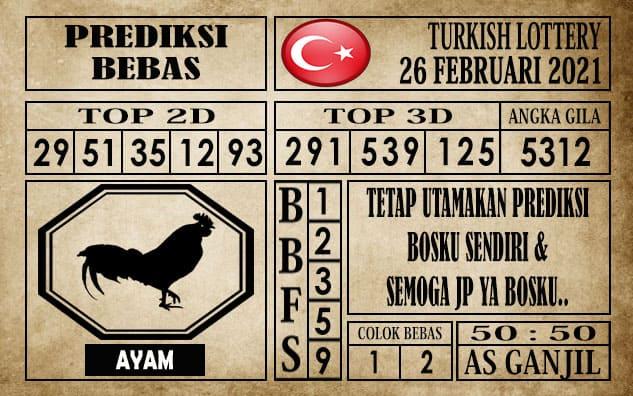 Prediksi Turkish Lottery Hari ini 26 Februari 2021