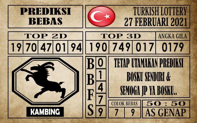 Prediksi Turkish Lottery Hari ini 27 Februari 2021
