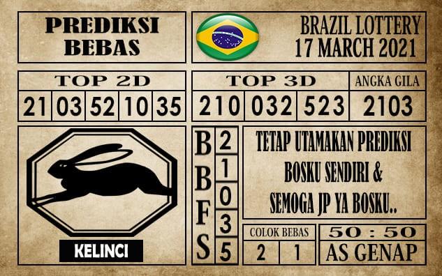 Prediksi Brazil Lottery Hari Ini 17 Maret 2021